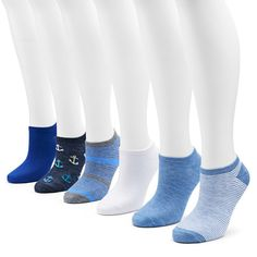 Women's SONOMA Goods for Life™ 6-pk. Graphic No-Show Socks, Size: 9-11,