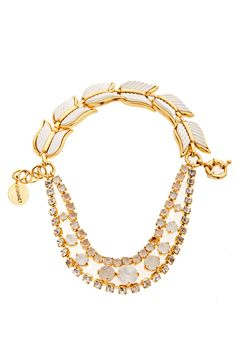 Vionnet Necklace. How about combining vintage bracelet for back, and string beads for front. Attach with jump rings at side.