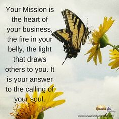 Your mission is the heart of your business. http://bit.ly/1io3qKX