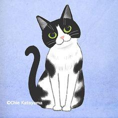 Dark Art Drawings, Cute Animal Drawings, Realistic Drawings, Cartoon Drawings, Black Cat Illustration, Bunny Drawing, Cat Icon, Fish Art, Cat Art