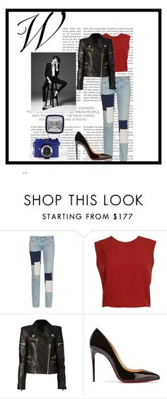 """""""Untitled #742"""" by haya-kamel1 ❤ liked on Polyvore featuring Simon Miller, Alice + Olivia, Balmain and Christian Louboutin"""