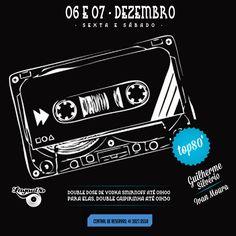 06 e 07/12 - Os Dj's Guilherme Silvério + Ivan Moura tocando grandes hits dos anos 80 pra você dançar e se divertir muito!
