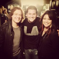 Wolfgang Van Halen with Mom and Dad in 2013