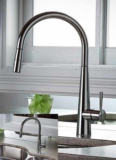 Save Water With The Best Kitchen Faucets For Your Lovely Kitchen: Elegant Kitchen Faucets ~ treeinggear.com Design Inspiration