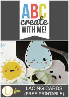Weather Themed Lacing Cards - Fun Fine-Motor Activity!  Free Printable!