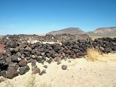 Remains of Pony Express Station east of Fallon, NV