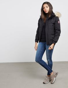 Canada Goose Savona Padded Bomber Jacket - available at Tessuti, the luxury designer retailer for Men, Women and Children. Winter Coats Women, Coats For Women, Jackets For Women, Clothes For Women, Canada Goose Women, Canada Goose Jackets, Bomber Jacket Winter, Goose Clothes, Editorial Fashion