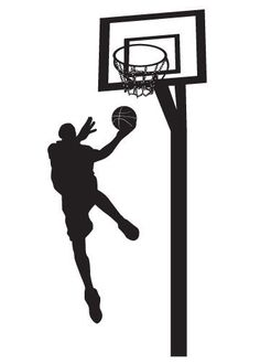 Pick your color Vinyl Wall Sticker Decal Art Basketball Player by urbanwalls