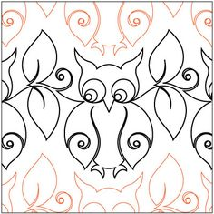 Snowy Owl pantograph pattern by Patricia Ritter of Urban Elementz