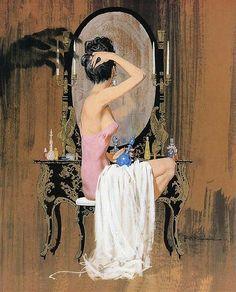 Robert McGinnis - Woman at the mirror