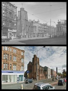 Queen's Cross,  Garscube Rd Then And Now Photos, Glasgow City, Scotland Travel, Paisley, Parents, Memories, Architecture, Style, Dads