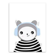 Animal Panda Art Print Poster Modern Nordic Nursery Wall Picture Kids Room Decor Canvas Painting No Frame