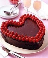 Weight Watcher's Chocolate Raspberry Heart Cake