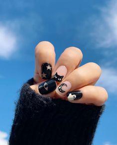 Holloween Nails, Halloween Acrylic Nails, Cute Halloween Nails, Cute Acrylic Nails, Cute Nails, Gel Nails, Halloween Nail Colors, Shellac Nail Art, Stylish Nails