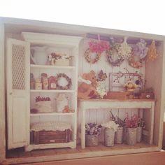 #miniature#miniture#dryflowershop#teddybear#flower#handmade#ミニチュア#ドライフラワー#フラワーショップ#テディベア#手作り#ハンドメード  Now it's done!!完成しました!
