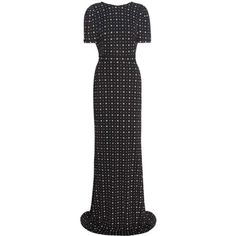 Givenchy Printed Maxi Dress (19695530 PYG) ❤ liked on Polyvore featuring dresses, black, cocktail/gowns, holiday dresses, holiday maxi dresses, maxi length dresses, evening dresses and special occasion dresses