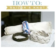 How to make a sailors knot band/bracelet.