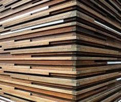 Interior Walls Wood Wood paneling is a traditional method of creating a beautiful interior. Wood paneling has the characteristic of pro. Wood Slat Ceiling, Wood Slat Wall, Wooden Slats, Wood Paneling, Wood Walls, Ceiling Panels, Wooden Ceilings, Panelling, Exterior Wall Cladding