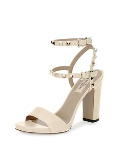 077f7c95bcdf Platform   High-Heel Sandals for Women at Neiman Marcus. See more. Rue La  La — Valentino. Valentino ShoesValentino RockstudLeather PumpsShoe ...