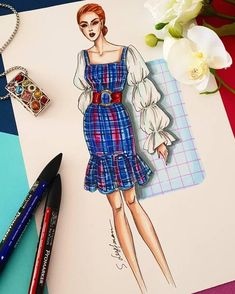 ✔ Fashion Sketches Clothing How To Draw Dress Design Sketches, Fashion Design Sketchbook, Fashion Design Drawings, Fashion Sketches, Fashion Design Illustrations, Art Sketchbook, Fashion Drawing Dresses, Fashion Illustration Dresses, Fashion Dresses