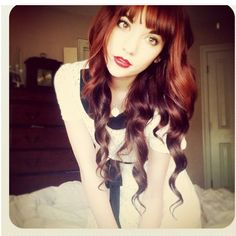 wish i had the guts to pull off bangs