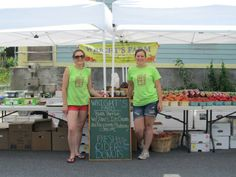 Samatha Boylan and Amber at Wrights Farm tent at the Rosendale Street Festival!