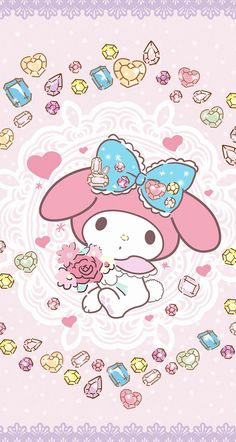 "My Melody ""wishing you a SWEET & ROMANTIC St. Valentine's Day"", as courtesy of Sanrio"