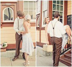 Train Station Vintage Wedding Inspiration