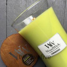 Lemongrass Large Woodwick candle available from www.roundbarntradingcompany.com