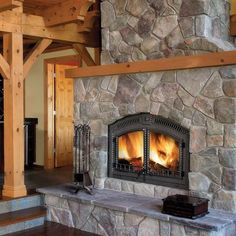 Hottest Pic low Fireplace Hearth Style – Rebel Without Applause Cabin Fireplace, Stone Fireplace Decor, Rock Fireplaces, Stone Fireplace, House With Porch, Fireplace Decor, Fireplace, Wood Burning Fireplace Inserts, Fireplace Hearth