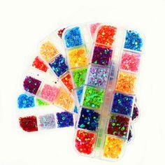 Colorful Glitter Gel Nails Decorations New Arrive Know All for Manicure 3D Nail Art Acrylic Powder Paillette pour Decorer Poudre