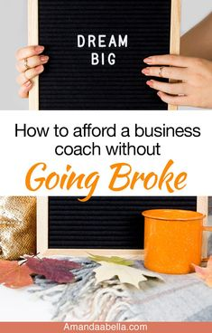 4 Ways To Afford A Business Coach without Going Broke - Finance tips, saving money, budgeting planner