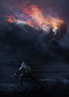 Geralt of Rivia vs the Phoenix Witch, Guillem H. Pongiluppi