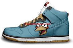 Angry Birds – Blue by Daniel Reese Blue Sneakers, High Top Sneakers, Sneakers Nike, Bioshock, Angry Birds, Bird Shoes, Cartoon Shoes, Harry Potter, Painted Sneakers
