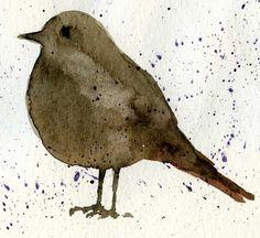 Little Bird  Watercolor   February  2013