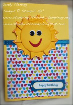 Stamp with Sandy: A sunshine for Sunshine - Post-It note holder