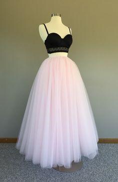 Floor length tulle skirt white tulle skirt by Morningstardesignsmi