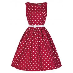 065cda0c33ea Audrey Red Polka Dot Swing Dress