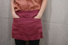 Easy DIY Apron I made these when I was in school as gifts for my mom and grandmother.  When my grandmother passed my mom gave me those aprons back.  I use them at holidays.  They are really easy.
