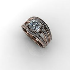 Rose Gold engagement by VisionaryJewelers