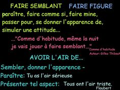 avoir l'air de ... Attitude, Teaching French, Communication, Periodic Table, Language, Templates, French Tips, Study, Pretend Play