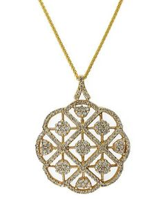 Effy Diamond And 14K Yellow Gold Pendant Necklace, 2.08 TCW Women's Di