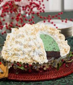 Brownie Baked Alaska - Hostesses have been wowing their guests with Brownie Baked Alaska since the 1950's – and it still never fails to impress. This classic, show-stopping ice cream dish oozes vintage charm. It's the perfect sweet treat for the holiday season...especially during the Christmas holiday.