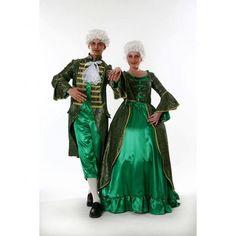 Rokoko Barock Kleid grün rokokokleid theaterkostüme neu
