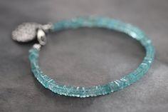 Apatit-Armband türkis blau Edelstein-Armband von MossyCreekStudio