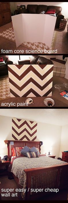 If you live in an apartment and can't paint the wall this would be a cheap awesome way to make an accent wall