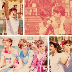 Collage of the boys in Texas <3 One Direction :3