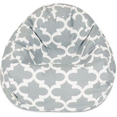 Majestic Home Goods Trellis Small Beanbag Chair Grey 159 Liked On