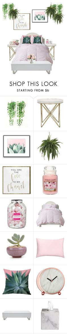 """""""cute room"""" by milsky ❤ liked on Polyvore featuring interior, interiors, interior design, home, home decor, interior decorating, Oliver Gal Artist Co., Yankee Candle, Farhi by Nicole Farhi and Home Decorators Collection"""