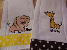 Terry Towelling Handmade Pink Fairy Embroidered White Burp Cloth Baby Bibs & Burp Cloths Baby